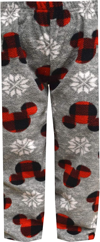 AME Sleepwear Boys' Disney Mickey Mouse Plaid Ears Lounge Pants