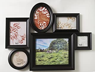Classic Black Collage of 6 Picture Frames - 6 Photo Frame Wall Collage