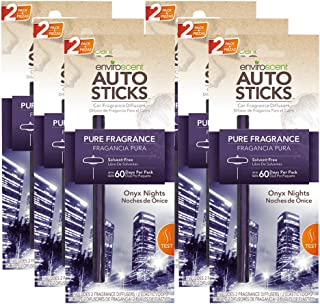 Enviroscents Auto Sticks Natural Car Air Fresheners, 6-Pack with 12 Sticks (Onyx Nights)