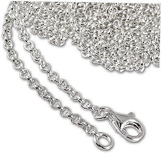 Fina Rolo cadena ers cadena cadena de plata 38-45 cm 1 mm de ancho 925 Sterling plata