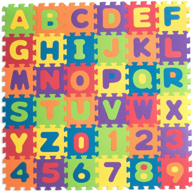 Teeny Toyz At Selling the price of surprise Large Foam Puzzle Play Tiles Alphabe Entire 36 Mat