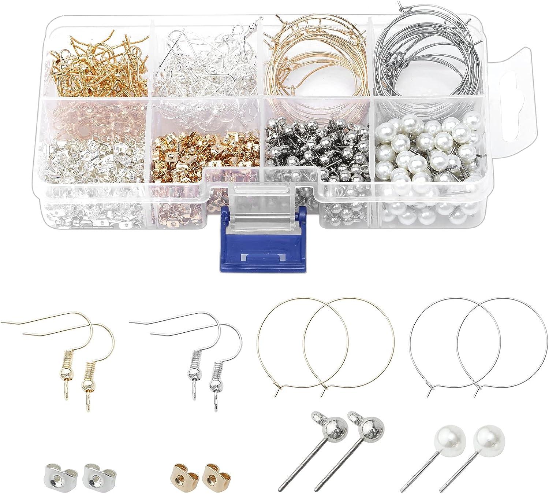 760 safety PCS Rare Earrings Kits Sliver Earring Making Golden Supplies DIY