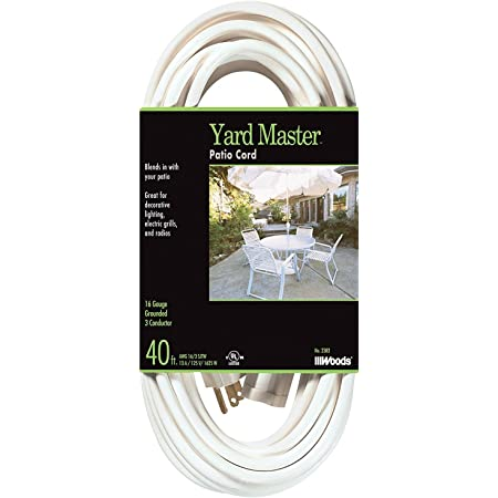GoGreen Power GG-19608 16//3 8 3-Outlet Extension Cord White .1 Pack