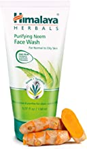 Himalaya Purifying Neem Face Wash with Neem and Turmeric for Occasional Acne, 5.07 oz (150 ml)