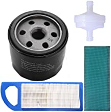 Podoy 492932s 696854 Oil Filter 697153 Air Filter for Briggs Stratton 394358 Fuel Filter 5127A 5127B Intek 15.5, 17 and 17.5 HP Lawn Mower Engine Tune-Up Kits