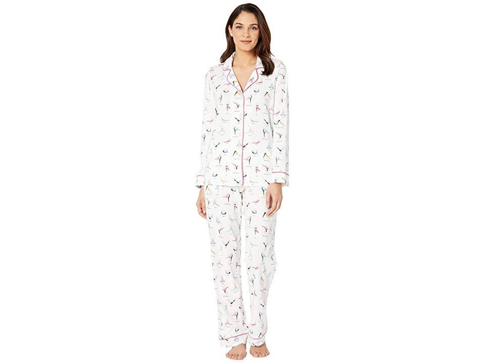 BedHead Pajamas Long Sleeve Classic Notch Collar Pajama Set (Namaste) Women