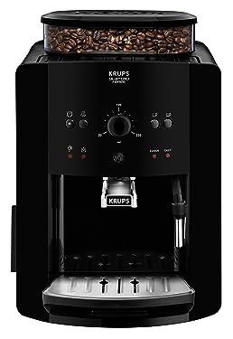 Krups EA8110 Arabica Quattro Force Kaffeevollautomat (1450 Watt, Wassertankkapazität: 1,8 Liter, Pumpendruck: 15 bar) schwarz