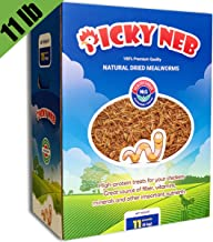 PICKY NEB 100% Non-GMO Dried Mealworms - Whole Large Meal Worms Bulk - High-Protein Treats Perfect for Your Chickens, Ducks, Wild Birds