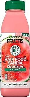 Garnier Fructis Hair Food Champú Sandía Revitalizante Limpia y Revitaliza Para Cabello Seco o Apagado Fórmula Vegana ...