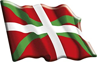 Aufkleber Flagge ondeante Euskadi Harz