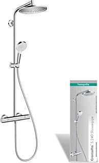 Hansgrohe Crometta S 240 - Sistema de ducha, 2 tipos de chorro, cromo