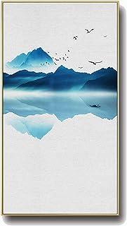 CNBPLS Version Verticale Porche Toile Tableau,Moderne Simplicité Peintures Décoratives,Cadre en Alliage D'aluminium Paysag...
