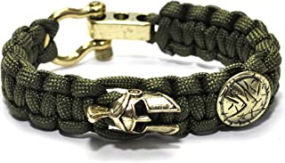 KOKOSHELL Viking Bracelet Ragnar Asgard Charms for Men Women Dragon Sparta Helmet Mens Thor Hammer Bracelets Norse Mjolnir...