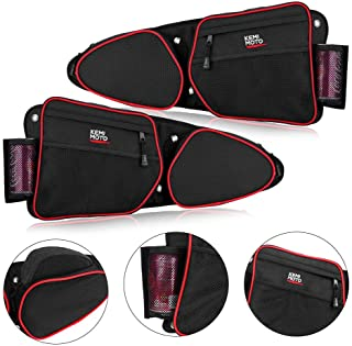 RZR Side Door Bags, KEMiMOTO UTV Front Door Side Storage Bag Set with Knee Pad for 2014 2015 2016 2017 2018 2019 Polaris RZR XP Turbo Turbo S 1000 S900(See Video for Instruction)