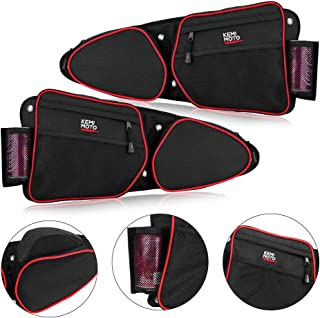 【2019 Upgraded】RZR Side Door Bags, KEMiMOTO UTV Front Door Side Storage Bag Set with Knee Pad for 2014 2015 2016 2017 2018 2019 Polaris RZR XP Turbo Turbo S 1000 S900(See Video for Instruction)