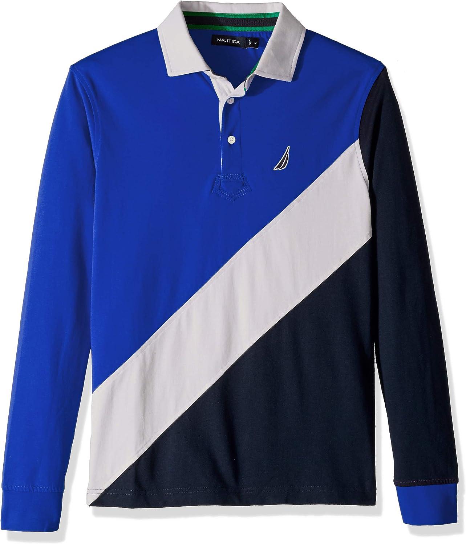 Nautica Men's Heritage Logo Long Sleeve Polo Shirt
