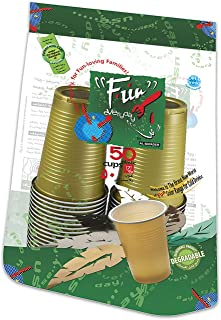 Fun® Everyday Disposable Plastic Cup 7oz - Assorted Colors, Pack of 50