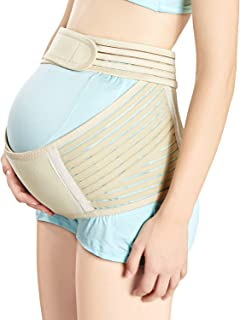 LotFancy Maternity Support Belt Breathable Pregnancy Belly Band to Relieve Hip/Low Back Stress (L 39.3-47.2 Inch Belly)