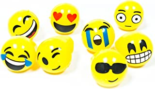 24 Pack - LED Jelly Emoji Rings - Flashing Emoji Party Supplies and Decorations - 8 Designs
