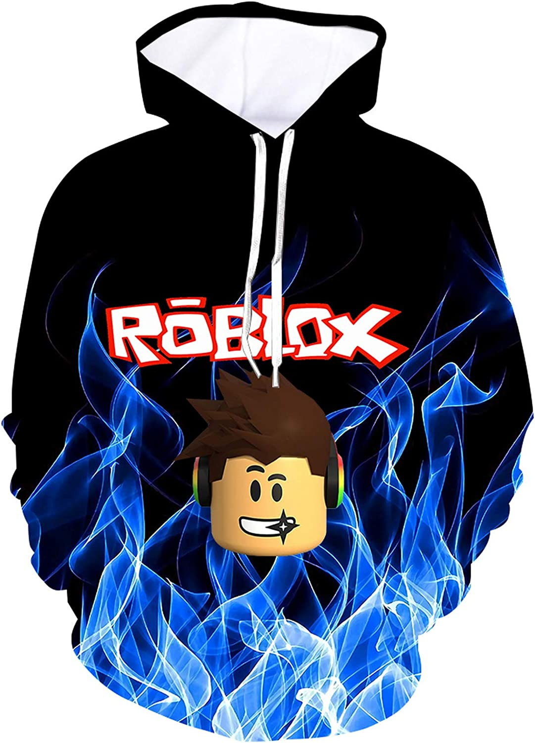 3D Youth Fashion Hoodie Lightweight Pullover Hooded Sweatshirt for Boys Girls