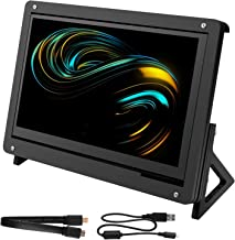 for Raspberry Pi 7 Inch Capacitive Touch Screen, kuman LCD HDMI Input 800x480 Display with Case Stand Black