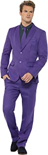 Smiffy's Men's Purple Suit with Jacket Trousers and Tie