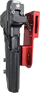 Black Scorpion Outdoor Gear Pro Heavy Duty Competition Holster OWB Kydex fits Walther PPQ Q5 Match - Polymer Frame, PPQ M2 5'', 3Gun, IPSC, USPSA Approved (Red/Black)