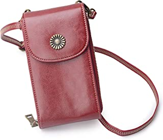 Women RFID Blocking Small Cell Phone Purse Crossbody Bag Smartphone Wallet with shoulder strap