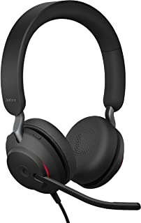 Jabra Evolve2 40 MS Wired Headphones, USB-A, Stereo, Black – Telework Headset for Calls and Music, Enhanced All-Day Comfor...