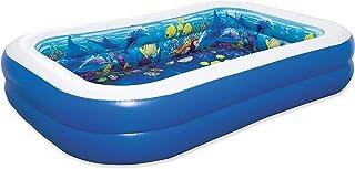مسبح لعب قابل للنفخ لمغامرات تحت البحار ثلاثية الأبعاد من بيستواي 2.62 متر × 1.75 متر × 51 سم