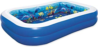 "Bestway 8'7"" x 69"" x 20""/2.62m x 1.75m x 51cm 3D Undersea Adventure Inflatable Play Pool"