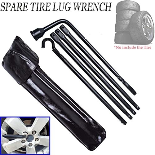 discount Bowoshen online for Dodge Ram 1500 2002-2015 Repair Spare Tire Lug Wrench Tool Kit Direct Replacement Pack of discount 5 with Carry Bag sale
