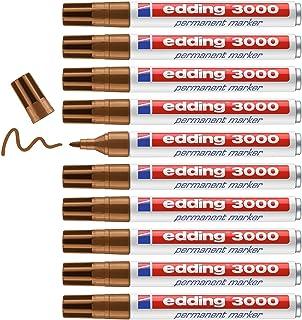 Edding 4-3000013 permanent marker 3000, navulbaar, 1,5-3 mm, oker