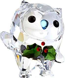 SWAROVSKI 5393324 Hoot - Happy Holidays, A. E. 2018, Clear Crystal with Red/Green