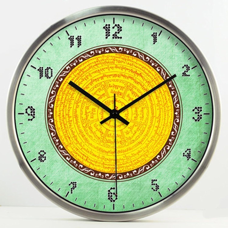 buena calidad GuoEY Auspiciosa decoración creativa salón salón salón relojes y relojes almacena Lucky reloj de parojo Reloj de cuarzo silenciosa nuevo (Color   Plata, Talla   S)  edición limitada