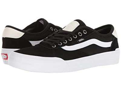 Vans Chima Pro 2 ((Suede/Canvas) Black/White) Skate Shoes