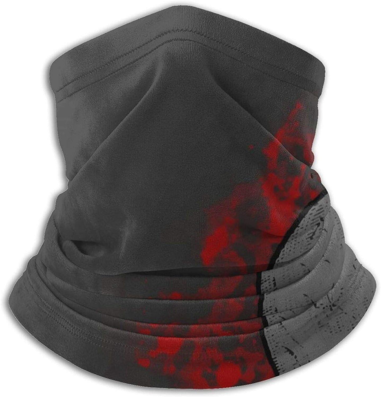 Tvsuh-u Neck Gaiter, Blood Skulls Face Scarf Washable Bandanas Face Covering