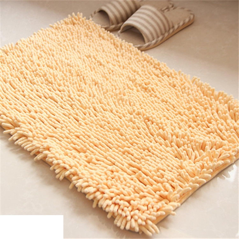 Chenille bathroom Water-absorbing non-sliping door mat [living room] bedroom Bedside  floor mat Sofa cushions Stair mats-D 60x90cm(24x35inch)