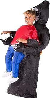 Kids Inflatable Grim Reaper Halloween Fancy Dress Costume