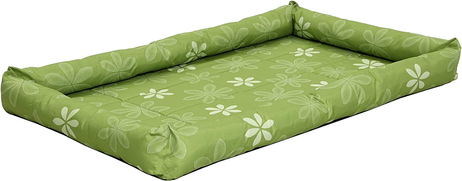 Midwest Homes for Pets Paradise Floral with Teflon Fabric Predector, 48Inch, Green