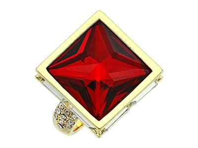 Vince Camuto Pyramid Ring (Gold/Crystal/Siam) Ring