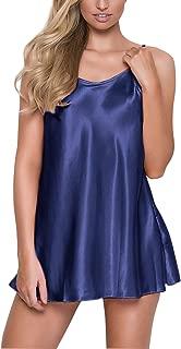 RSLOVE Women's Pajamas Satin Lingerie Nightgown Spaghetti Strap Sleepwear Slik Chemise Mini Slip Short Nightwear