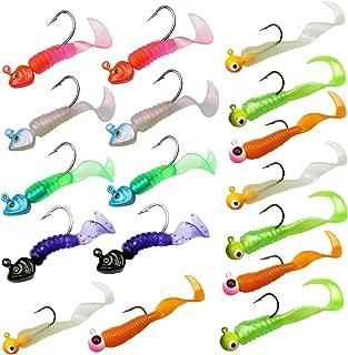 thkfish Fishing Jigs Fishing Soft Lures Fishing Jigs Head Fishing Baits Fishing Jigs Kit 7g/0.25oz 8g/0.28oz17pcs