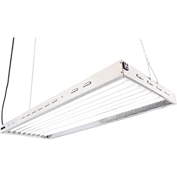Durolux DL8048 T5 Flourescent 4ft 8 Lamps with 6500K and 40000 Lumen Grow Light System 8 Tubes Included
