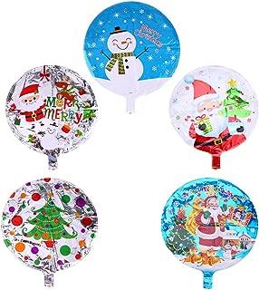 Xiaolanwelc@ 10pcs 18 inch Foil Balloon Helium Santa Claus/Snowman/Xmas Tree Navidad Ballons Party Souvenirs favors Christmas Gift