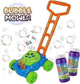 Máquina de Burbujas para Niños, Mecanismo de Soplado Automático, Juguete Bubble Lawn Mower con 2 botellas de líquido, Juguetes al aire libre Regalos para Jardín