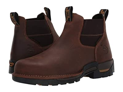 Georgia Boot Eagle One Waterproof Chelsea Soft Toe (Brown) Men