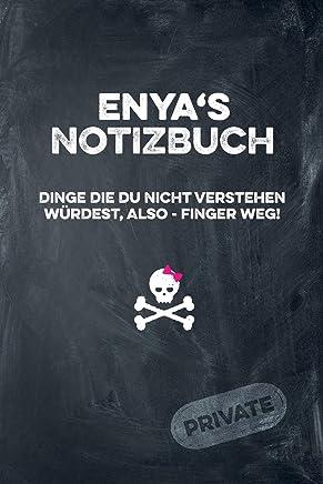 Enyas Notizbuch Dinge die du nicht verstehen würdest, also - Finger weg!: liniertes Notizheft / Tagebuch mit coolem Cover und 108 Seiten A5+ (229 x 152mm)