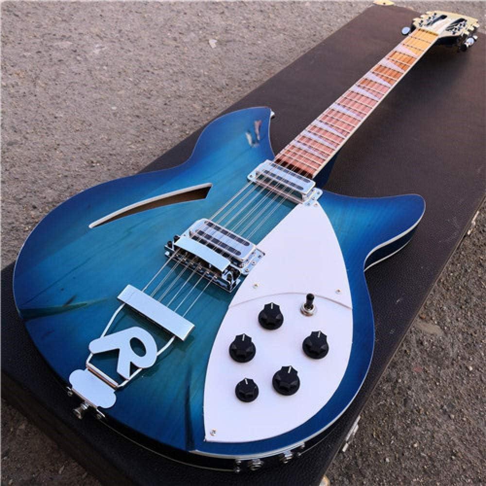LYNLYN Guitarras 12 Cuerdas De Guitarra Eléctrica Media del Aire De La Guitarra De Acero Acústico De Acero Acústico Guitarras Guitarra eléctrica (Color : 12 String, Size : 39 Inches)