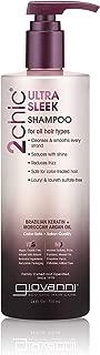 Giovanni 2Chic Brazilian Keratin and Argan Oil Ultra-Sleek Shampoo, 24 Fl Oz (Pack of 1)
